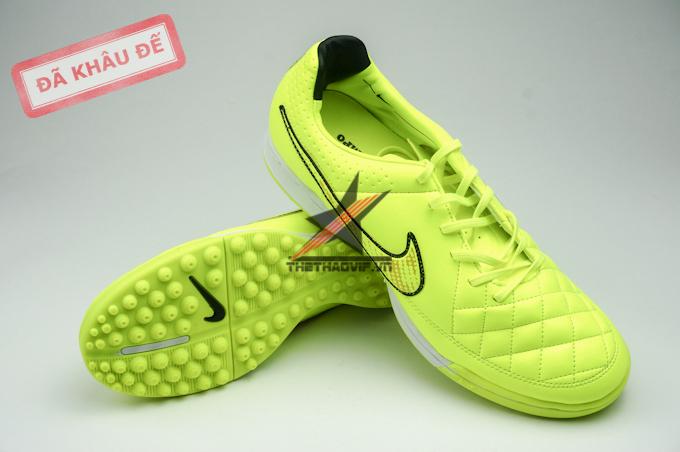 Giay da bong Nike Tiempo Legend V Vàng TF 1