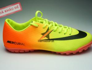 Giày đá bóng Nike Mercurial Vapor TF vàng cam_big_0