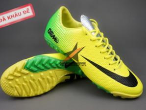 Giày bóng đá đinh dăm Nike Mercurial Vapor IX TF Xanh Vàng_big_0