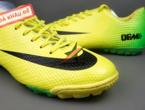 Giày bóng đá đinh dăm Nike Mercurial Vapor IX TF Xanh Vàng_big_1