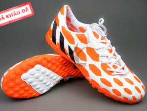 Giày đá bóng Adidas Predator TF Cam Trắng_big_0