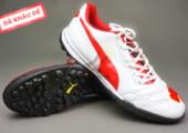 Giày đá bóng Puma 2 màu đỏ trắng TF new gia re. Random