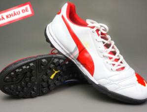 Giày đá bóng Puma 2 màu đỏ trắng TF new_big_0