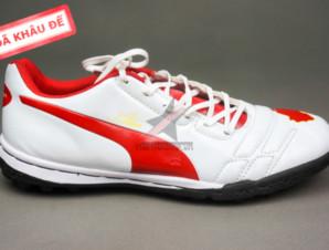 Giày đá bóng Puma 2 màu đỏ trắng TF new_big_1