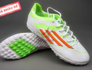 Giày đá banh F10 Adizero TF Trắng Xanh_big_0