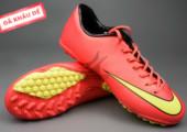 Giày đá banh Nike Mercurial V TF Đỏ Vàng gia re tai ha noi. xem nhieu