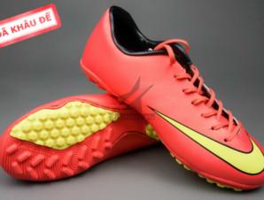 Giày đá banh Nike Mercurial V TF Đỏ Vàng_big_0