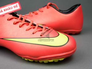 Giày đá banh Nike Mercurial V TF Đỏ Vàng_big_1