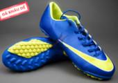 Giày đá banh Nike Mercurial V TF Xanh Vàng gia re tai ha noi. xem nhieu