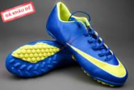 Giày đá banh Nike Mercurial V TF Xanh Vàng tai ha noi. Random