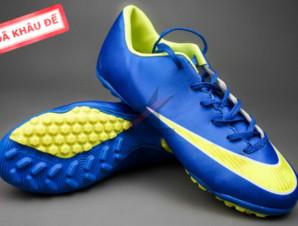 Giày đá banh Nike Mercurial V TF Xanh Vàng_big_0