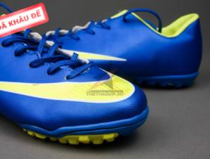 Giày đá banh Nike Mercurial V TF Xanh Vàng_big_1