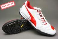 Giay da bong, Giày đá bóng Puma 2 màu đỏ trắng TF new