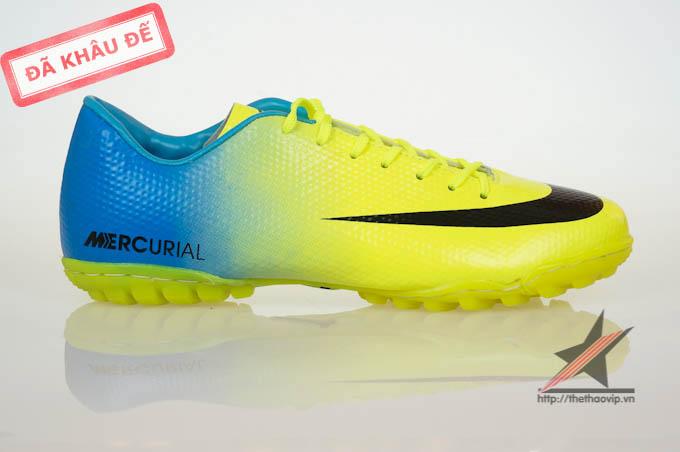 Giay da bong Nike Mercurial Vapor Superfly IX TF  Vàng