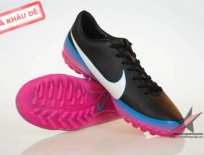 Giày đá bóng Nike Mercurial Victory III CR TF Đen Tím_big_0