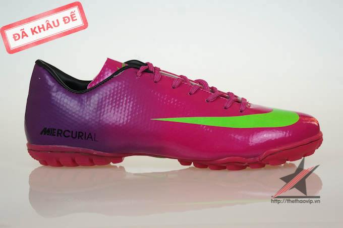 Giay da bong san co nhan tao Nike Mercurial Vapor Superfly IX TF Tím