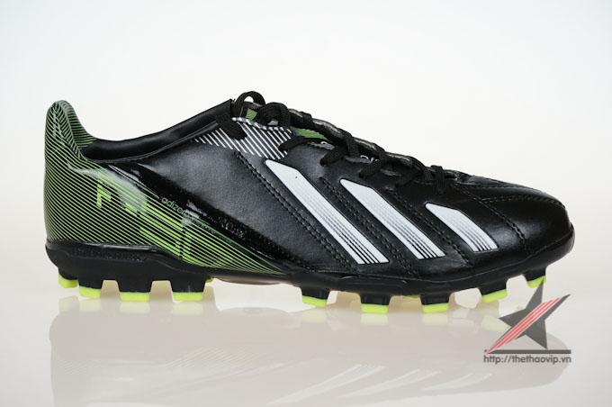Giay da bong san co nhan tao Adidas adizero f50 AG đen xanh