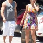 Ronaldo và người tình đồng hương Paula Morais mặc đồ thường ngày thoải mái có mặt tại sân bay Ibiza hôm 16/7.